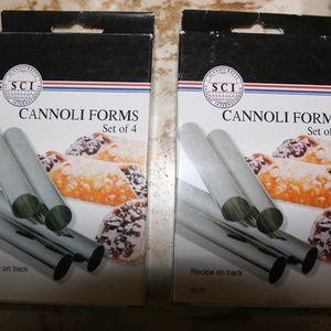 NIB Cannoli Forms - 2 sets of 4